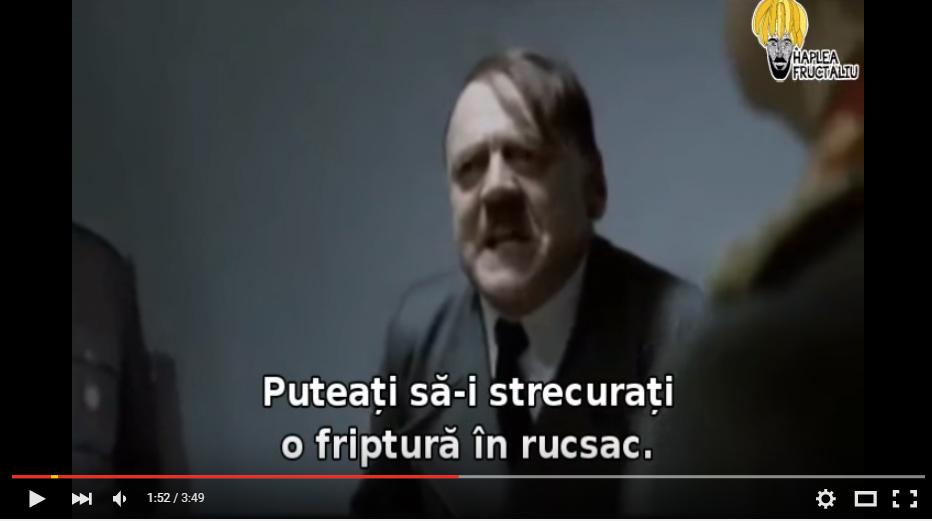 Hitler reacționează la Postăvaru x100 Challenge – clip youtube